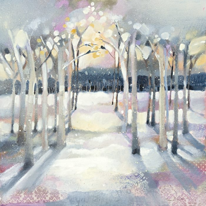 woodland painting snow