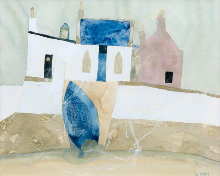 Seawall, Kintyre - David Smith RSW