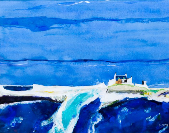 Sea of Blue Green Men - David Smith RSW