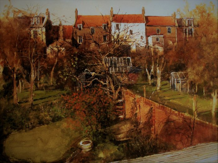 Crail Garden, Autumn (watercolour)