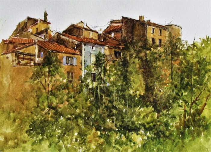 Mollans sur Ouveze (watercolour)