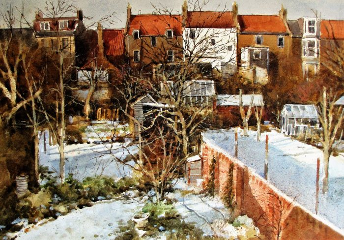 Crail Garden, Winter (watercolour)